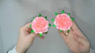 Цветы из лент/ Гвоздика/урок DiY/MK