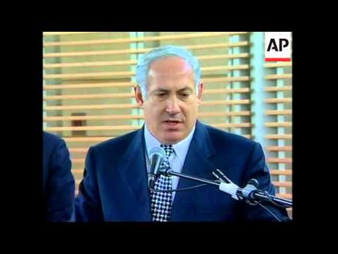 Netanyahu and Arafat on Sharon ruling