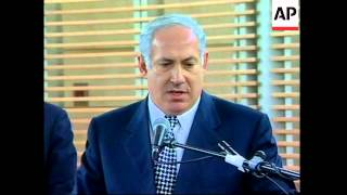Netanyahu and Arafat on Sharon ruling