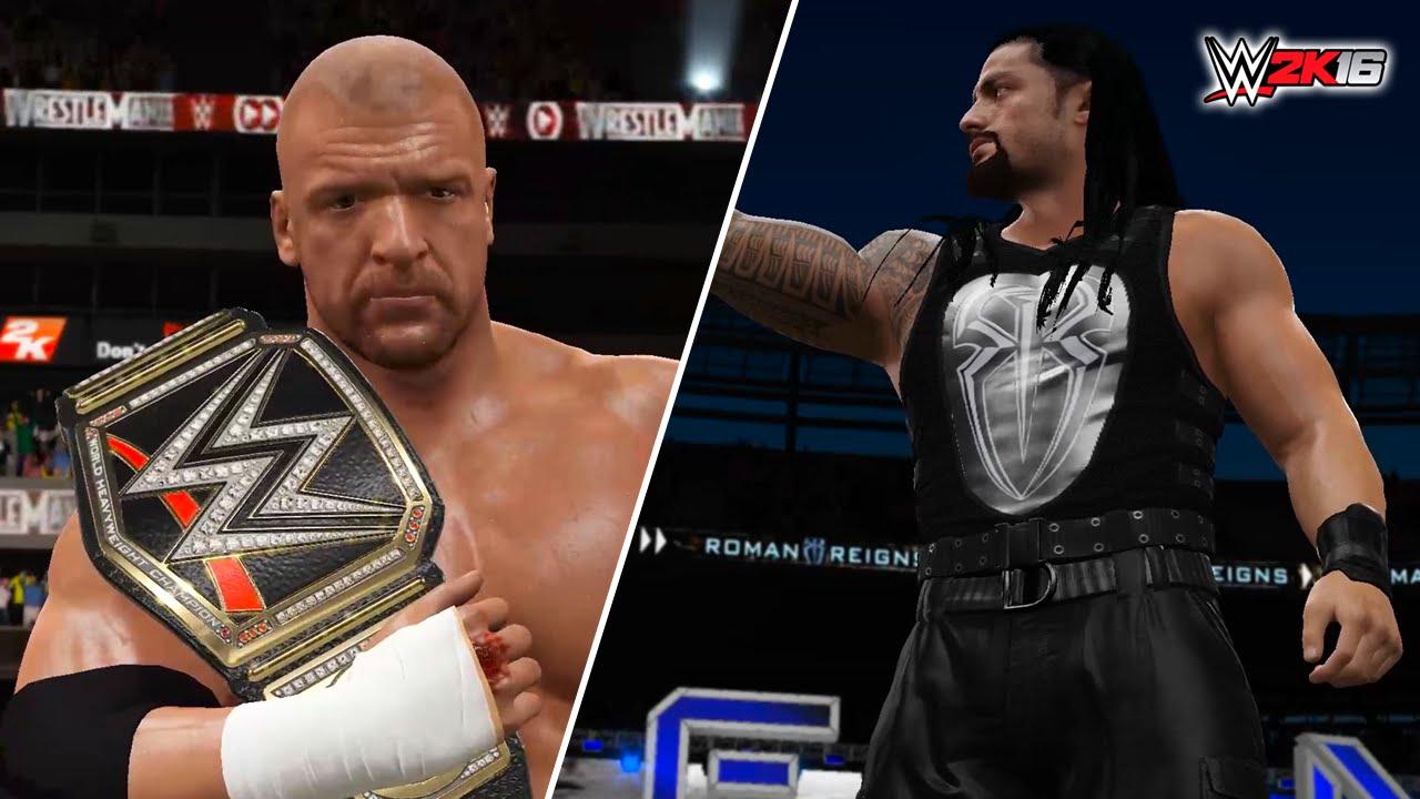 Download WWE 2K16 PC - Triple H VS Roman Reigns (Wrestlemania 32 World Heavyweight Championship Match)