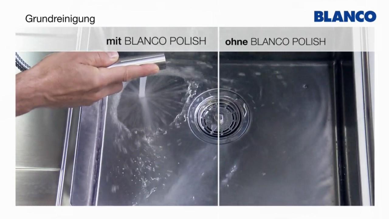 BLANCO Reinigung und Pflege von Edelstahl Spülen - YouTube