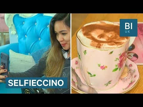 How this London cafe prints selfies onto cappuccinos
