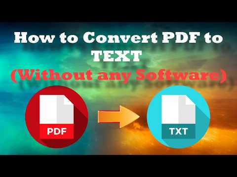 Convert PDF To TEXT 2019 Easy Guide