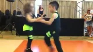 Professional kids ballroom dancing