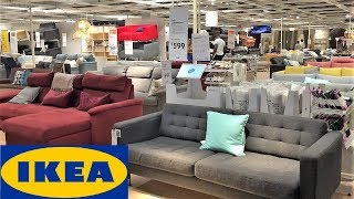 IKEA SOFAS SLEEPER SOFAS FUTONS COUCHES HOME DECOR SHOP WITH ME SHOPPING STORE WALK THROUGH 4K