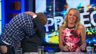 "Ed Sheeran is ""The Kissing Bandit"" on LIVE Australian TV 25 9 2014"
