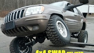 99 04 wj grand cherokee jeep 4x4 swap
