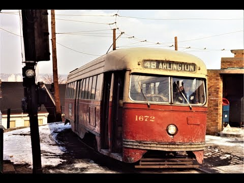 Pittsburgh Streetcars in the 1960s - South Side Scenes - discontinued routes