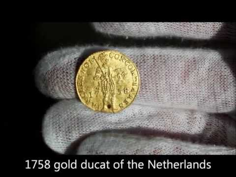 1758 gold ducat of the United Provinces of the Netherlands