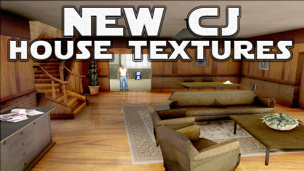 gta san andreas mods new cj house textures sa 1080p youtube. Black Bedroom Furniture Sets. Home Design Ideas