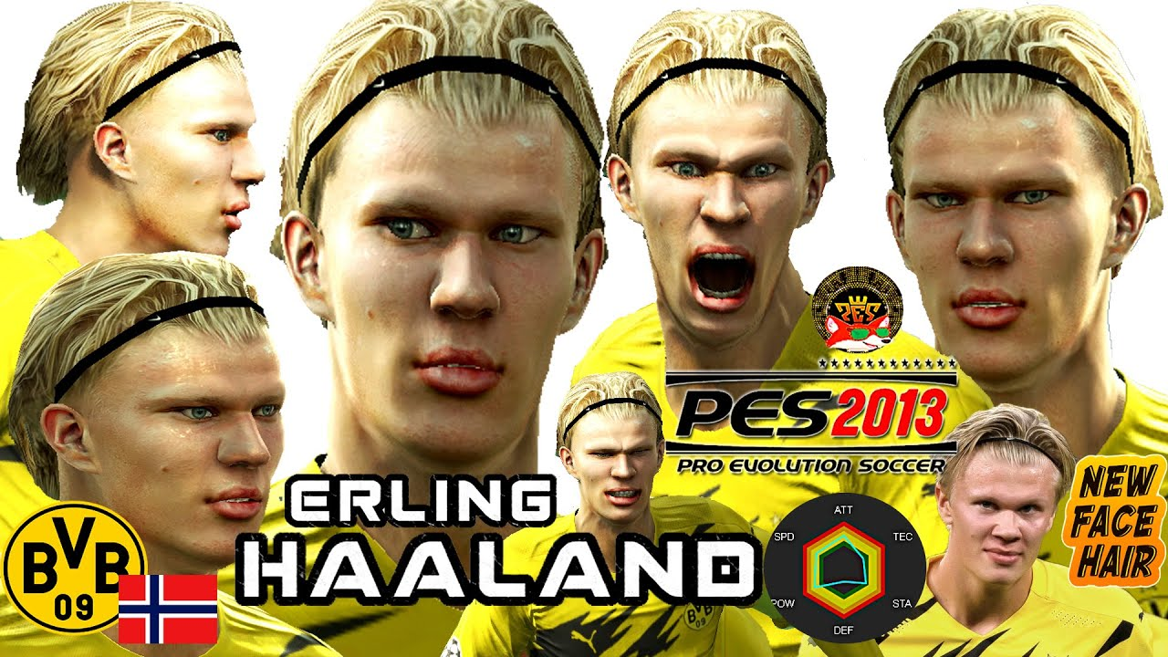 Ultimate Erling Haaland Pes2013 By Zorrazfaces Youtube