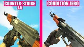 Counter-Strike 1.6 Gun Sounds vs Counter-Strike Condition Zero