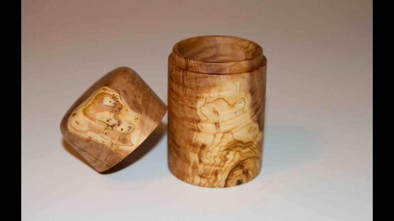 Woodturning Project Turned Lidded Box On The Lathe Youtube