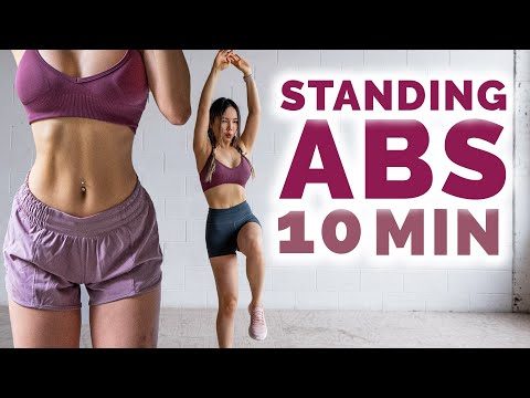 10 Min Standing Abs Workout to get Ripped ABS
