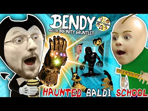 BALDI'S SCHOOL Of BENDY & The INK MACHINELINGS! BACON Soup Vs Infinity Gauntlet? (Insane FGTEEV Vid)