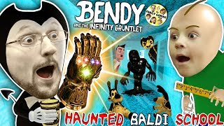 BALDI\'S SCHOOL of BENDY & the INK MACHINELINGS! BACON Soup vs Infinity Gauntlet? (Insane FGTEEV Vid)