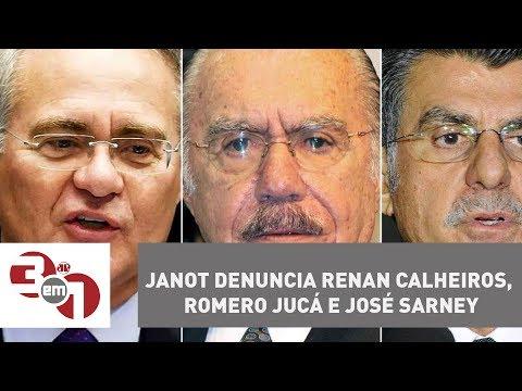 Rodrigo Janot denuncia Renan Calheiros, Romero Jucá e José Sarney