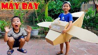 Tro Chơi Bé Tập Lái Máy Bay Giấy - Bé Nhím TV - Đồ Chơi Trẻ Em RoBot Máy Bay