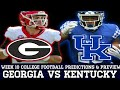 Georgia vs Kentucky Week 10 College Football Predictions & Analysis