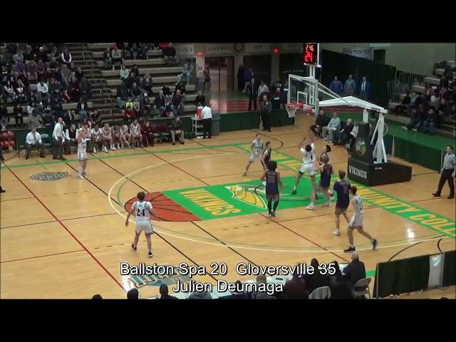 NEW!! Highlights Boys' Varsity: Ballston Spa 44 vs Gloversville 52 (F)