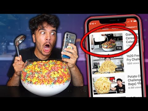 Letting Youtube Thumbnails DECIDE What i Eat for 24 Hours! (IMPOSSIBLE FOOD CHALLENGE)