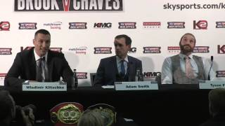 Tyson Fury loses his temper with Wladimir Klitschko