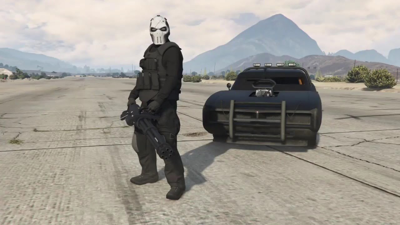 gta 5 best punisher outfit  tactical military punisher