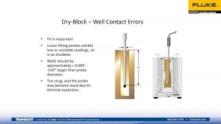 Fluke Calibration on How to Calibrate an RTD Using a Dry block Calibrator Webinar