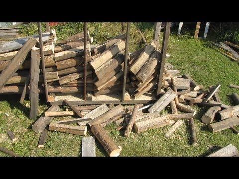 Как пилить бензопилой много дров. Легкий способ!