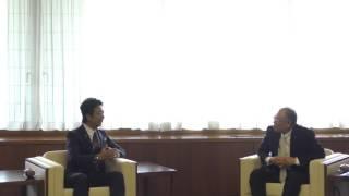 福岡市長高島宗一郎 子どもたちの健全育成のための寄付へ市長感謝状贈呈式に出席しました