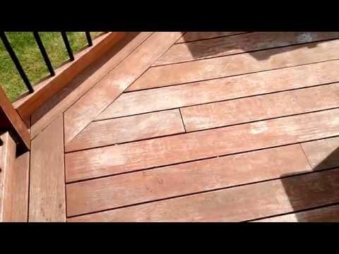 Annual Ipe Deck Maintenance Using Oil To Rejuvenate Ipe