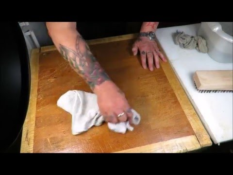How To Clean And Maintain Your Butchers Block. TheScottReaProject