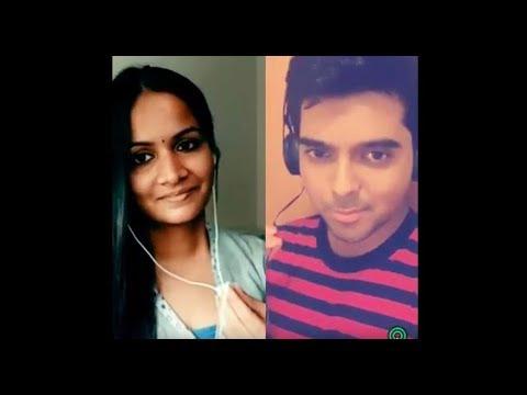 Munbe Vaa Karaoke Cover - Lakshmi & Rahul