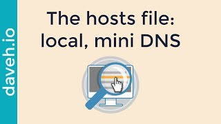 The hosts file: add your own web addresses locally