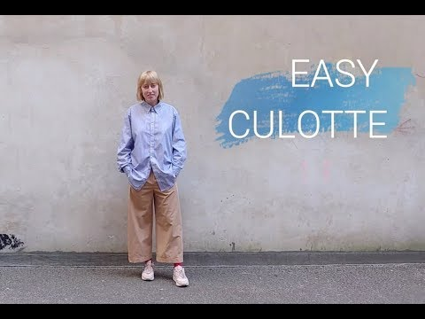 MEINWERK DIY- EASY CULOTTE Tutorial - YouTube
