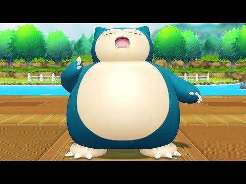 Pokemon Lets Go Pikachu - Catching Snorlax