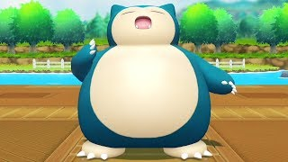 Pokemon Lets Go Pikachu - Catching Snorlax