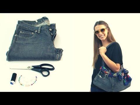 Ideas para reciclar pantalones 39 delantal 39 doovi - Como hacer bolsos con salvamanteles ...