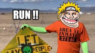 Naruto Run in Area 51 Meme Compilation
