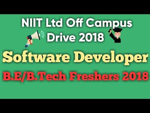 NIIT Ltd Off Campus Drive 2018 | Software Developer | B.E/B.Tech | Gurugram | Apply here immediately