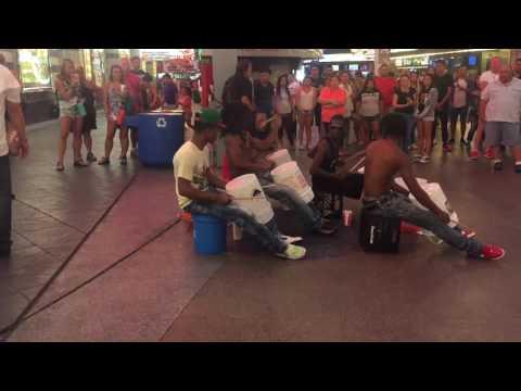 Las Vegas Street Performers - Drummers in Fremont Entertainment District