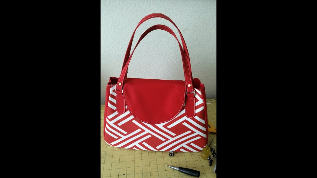 6297f8bc5e85 How to make a designer handbag  patterns z 1 - YouTube