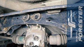 Замена сайлентблоков диффенциала на Subaru