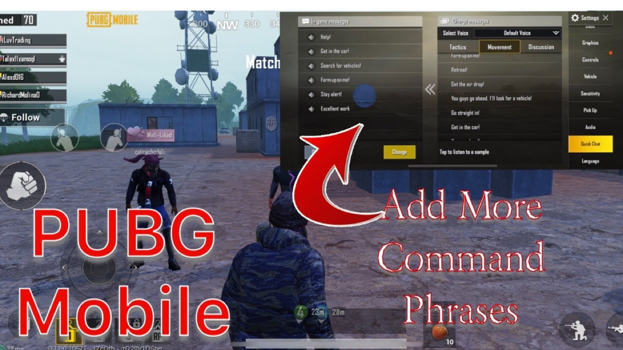 PUBG Mobile: How to Add More Command Phrases to Quick Chat Voice