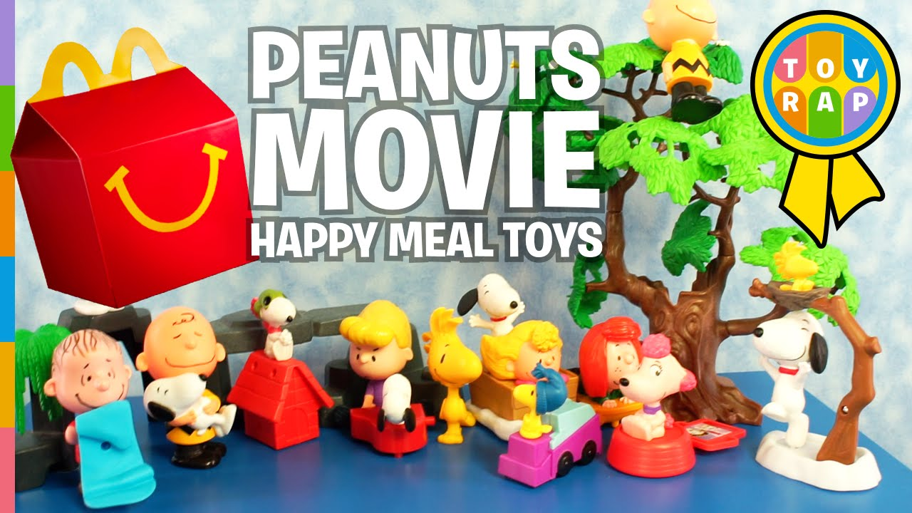 the peanuts movie snoopy mcdonalds happy meal charlie brown surprise