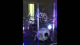 AJP custom drums-drummer-Ben Garcia-sound check-