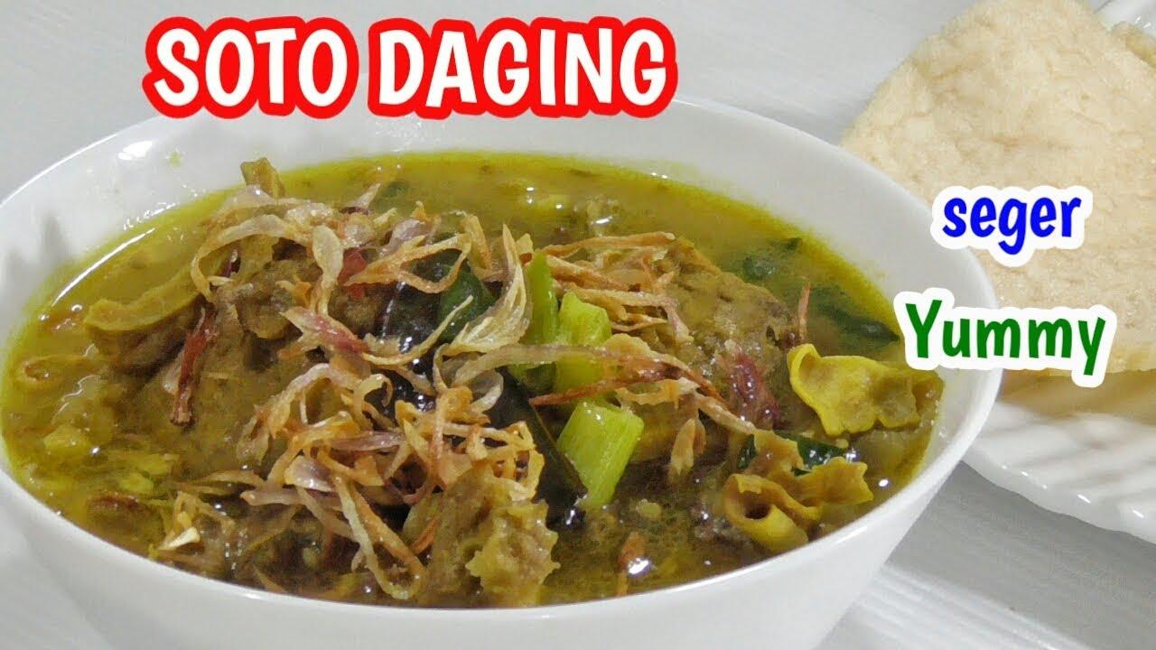 Resep Soto Daging Seger dan Nagih (kuah santan)