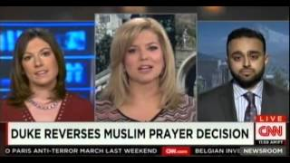 CNN: Ahmadiyya Muslim Community rep Harris Zafar on Duke University cancelling Muslim call to prayer