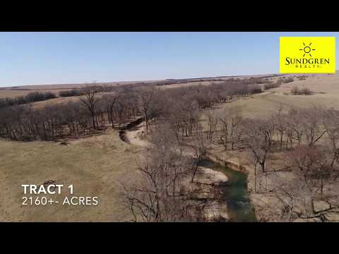 AUCTION: 3475+- Acres Flint Hills Kansas Land - 6 Tracts - Cattle Grazing & Hunting Land
