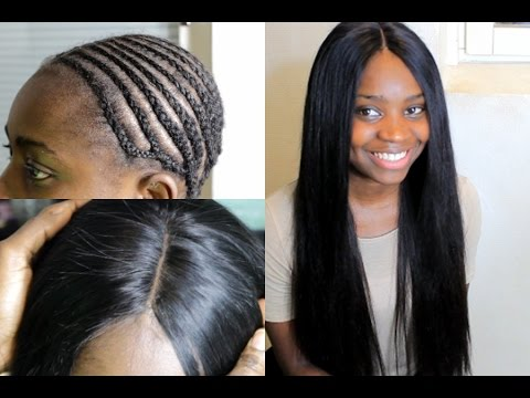 How To Do Full Sewin Weave | With a Lace Closure - YouTube